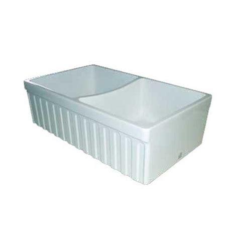 whitehaus reversible fireclay sink whitehaus reversible double bowl fireclay sink