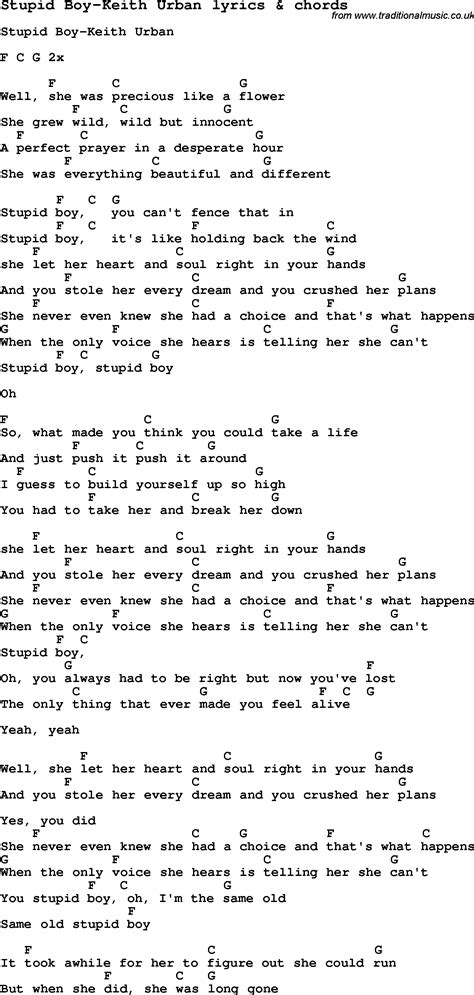 keith urban songs guitar chords keith urban pdf tab