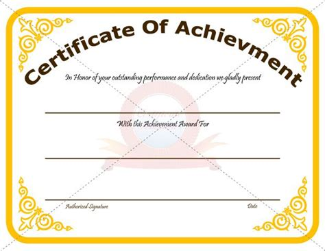 20 best achievement certificate templates images on