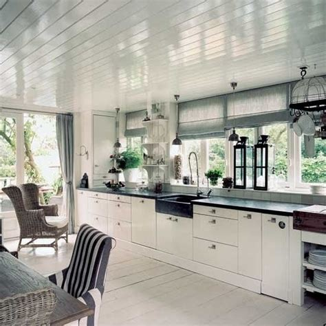 kitchen with tongue in groove ceiling for the home