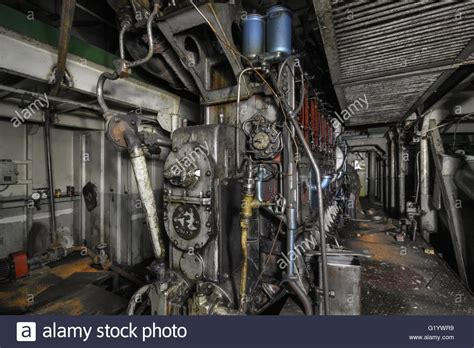 old boat engine repair the ship s hold with diesel engine mounted on ship engine