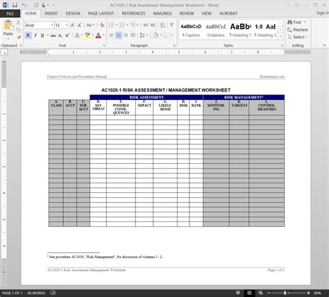 activity risk assessment template accounting worksheet software worksheet printables site