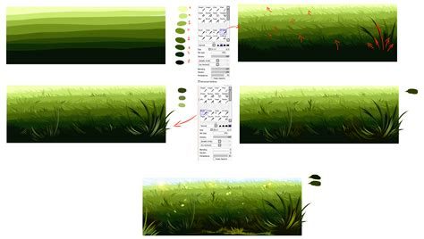 paint tool sai grass tutorial easiest way to draw a grass by ryky on deviantart