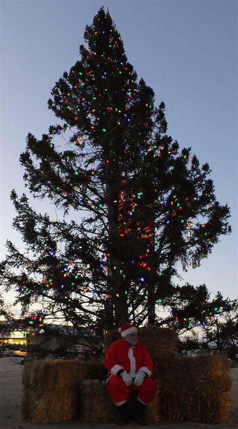 santa stops by swan river christmas tree lighting swan