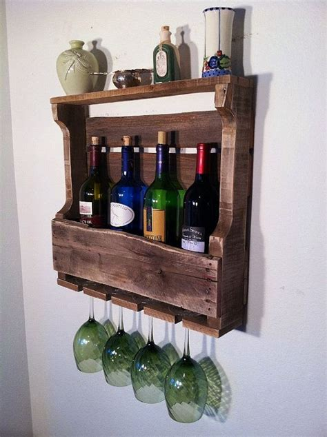 Handmade Wine Rack - wine rack rustic primitive handmade small design