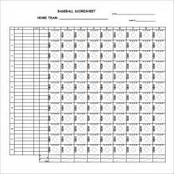 baseball score sheet template sle baseball score sheet 7 documents in pdf