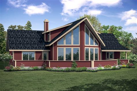 house plans with views a frame house plans alpenview 31 003 associated designs