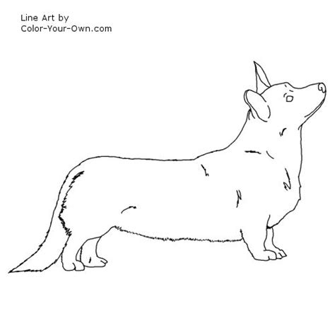 free coloring pages of corgi pictures