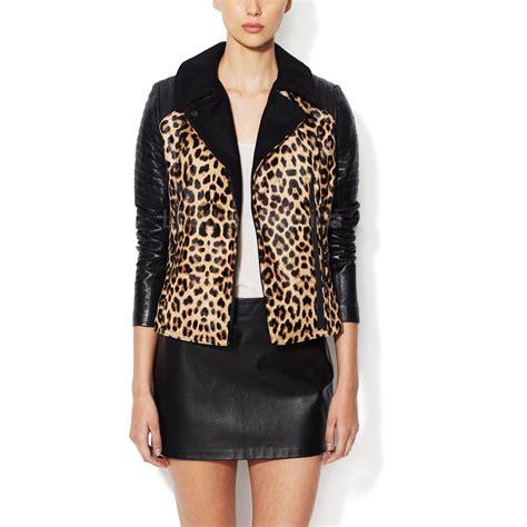 Print Jacket leather leopard print jacket