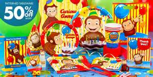 curious george party supplies curious george birthday party