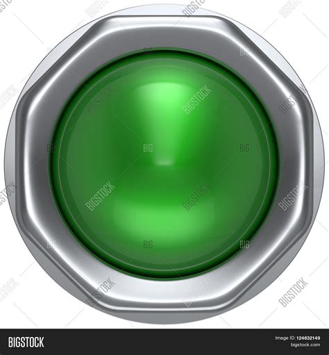 Disable Push Button push button green indicator image photo bigstock