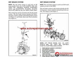 Forklift Brake System Pdf Hyster Forklift H4 0 Shop Manual Auto Repair Manual