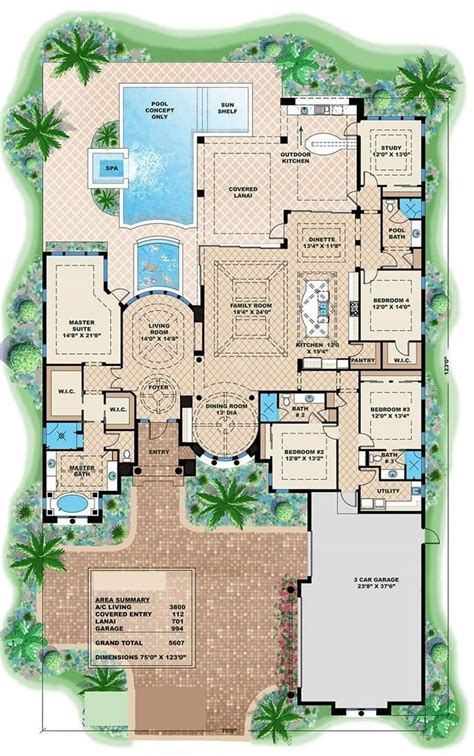 luxury house plans with pools 25 best ideas about luxury home plans on pinterest