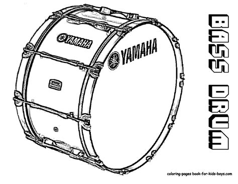 drum outline coloring pages