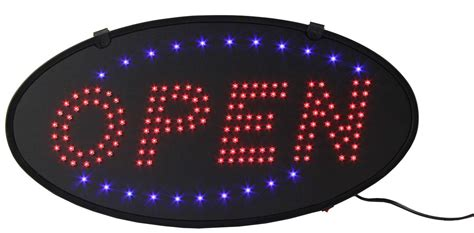 Sign Led Welcome Oval led open sign oval blue animation
