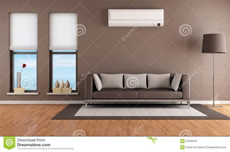 living room with air conditioner royalty free stock image