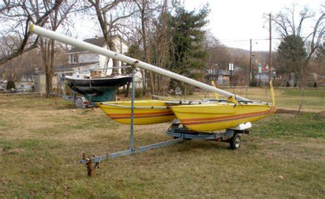 boat trailer axles virginia 1984 isotope catamaran sailboat with single axle trailer