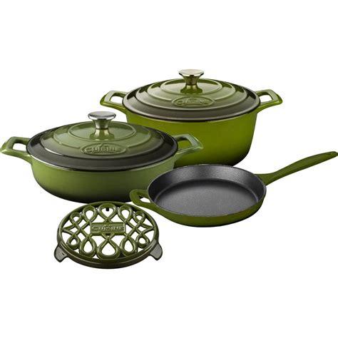 cast iron enamel cookware la cuisine pro 6 piece enameled cast iron cookware set