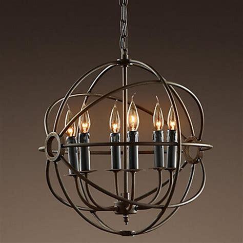 Rh Lighting by Rh Lighting Restoration Hardware Vintage Pendant L Foucault S Iron Orb Chandelier Rustic Iron