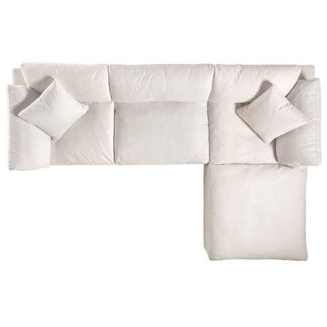 plush  piece sectional sofa  ottoman ivory white   furniture cheap patio