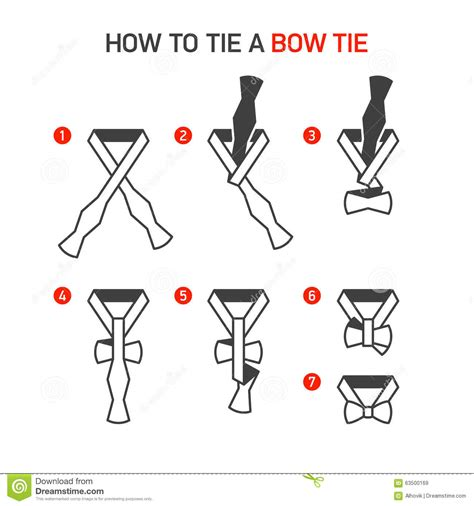 printable directions how to tie a tie how to tie a bow tie stock image image of collar