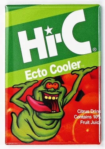 ghostbusters   ecto cooler fridge magnet slimer