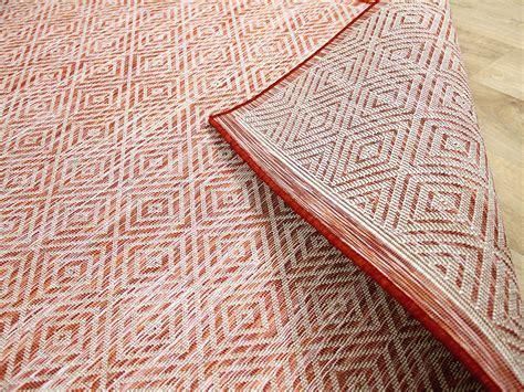 teppiche terracotta in outdoor teppich beidseitig flachgewebe hton