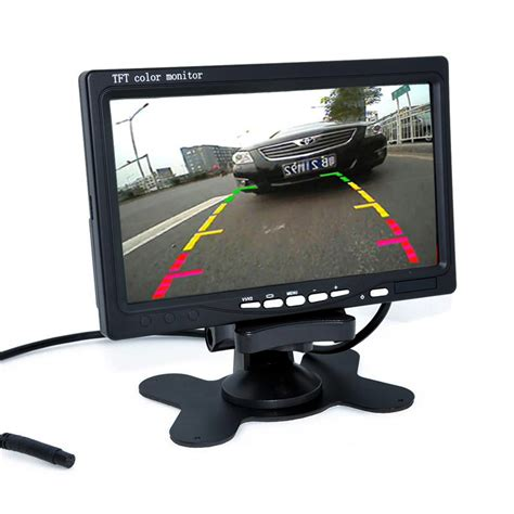 tft color monitor 7 quot tft lcd color hd mirror monitor for car rear