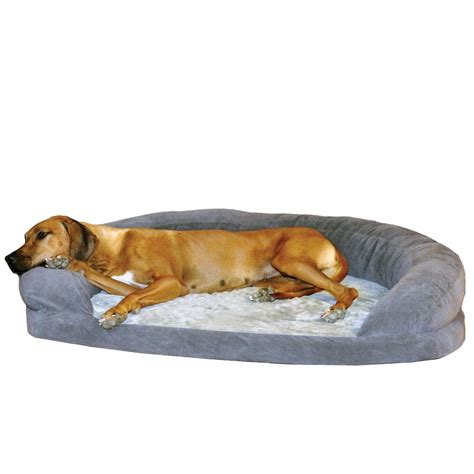 dog beds large k h pet products ortho bolster sleeper extra large gray