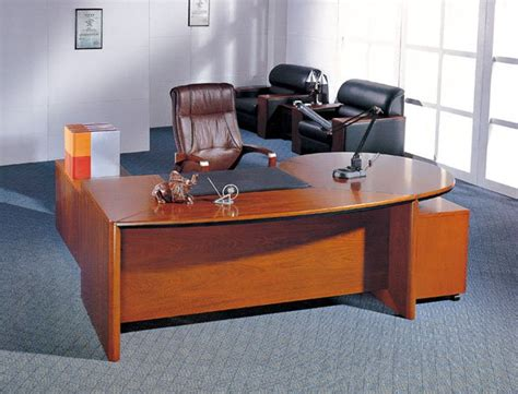fancy wooden table desk smooth office table endurable
