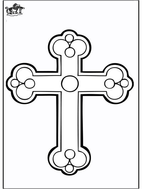 coloring page cross cross more