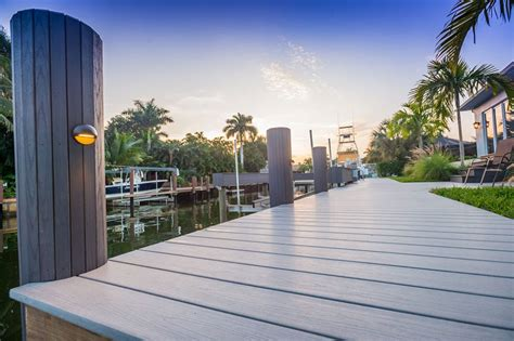 boat dock florida wrapped pilings for docks naples marine construction