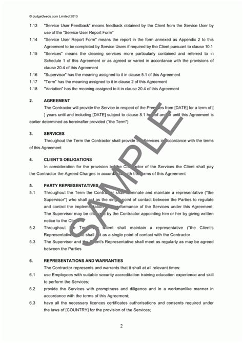 Sle Contract Letter For Security Services Contract For Security Services Template Security Guards Companies