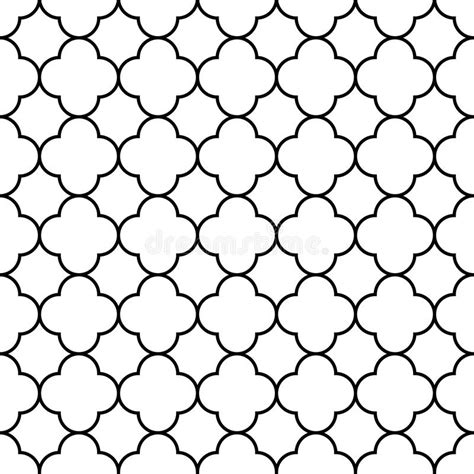 arabic seamless pattern vector black and white arabic traditional geometric quatrefoil
