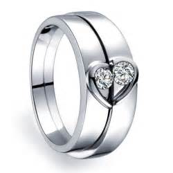 promise rings uk unique shape couples matching wedding band rings on silver jeenjewels