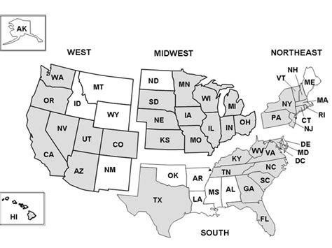 map of the united states broken into regions hcup nationwide inpatient sle design report 2003