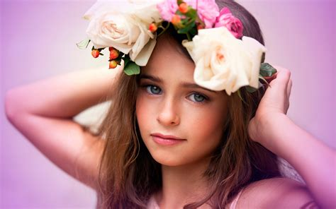 cute child cute child flowers wallpapers hd wallpapers
