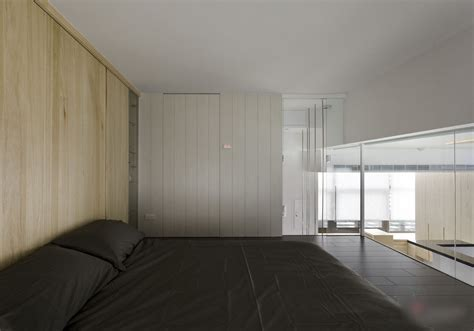 modern small apartment  open plan  loft bedroom
