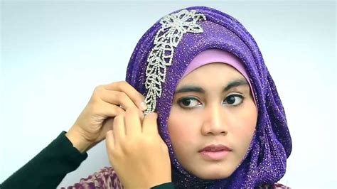 tutorial cara memakai jilbab with glitter shawl for cara memakai jilbab modern with glitter shawl for party