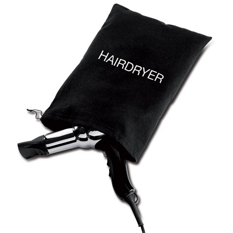 hair dryer bag black cotton