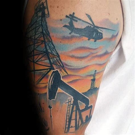 oilfield tattoo designs 40 oilfield tattoos for worker ink design ideas