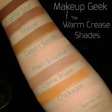 Eyeshadow Mizzu 8th edition of mgmswatches i warm crease shades these are among make up