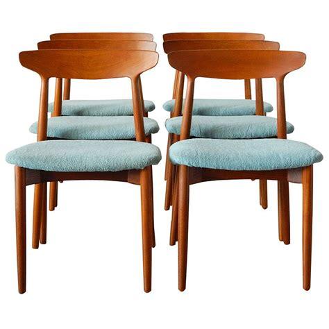 danish dining room furniture six harry ostergaard danish teak dining chairs for randers