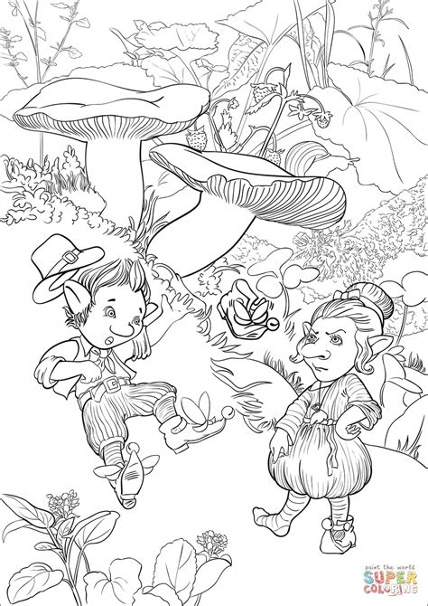 leprechaun coloring page leprechauns and winged shoe coloring page free