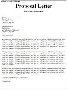 proposal letter template formsword word templates