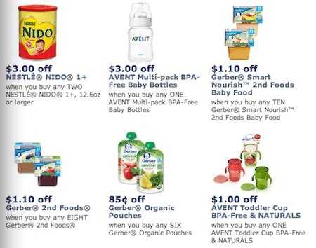 printable baby food coupons save over 10 with new gerber avent printable baby coupons