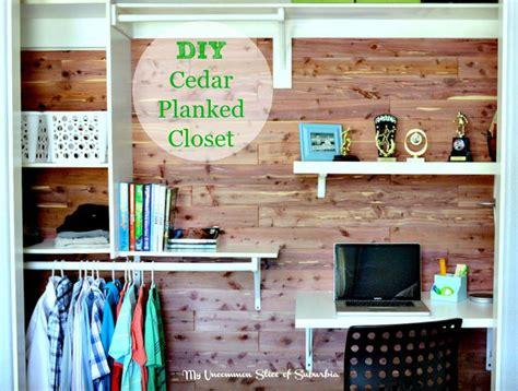 diy closet desk diy cedar planked closet with built in desk