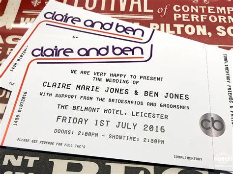 Concert Ticket Wedding Invitations