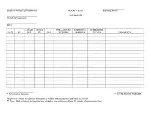 Hourly Employee Timesheet Template by Hourly Timesheet In Word And Pdf Formats