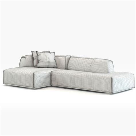 moroso massas sofa modern couch moroso massas 3d model max obj fbx
